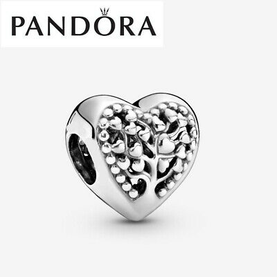 Genuine Silver Pandora Family Tree Heart Charm With Gift Box 797058 • 14.99£