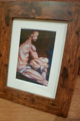 Male Nude Oil Painting Print, Gay Interest • 15£