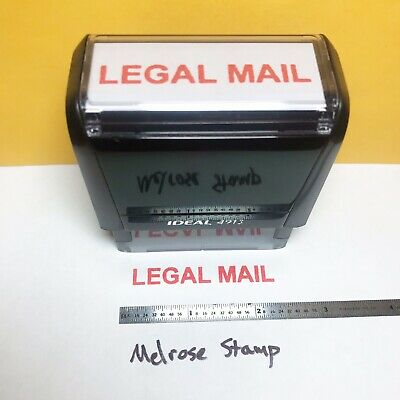 $12 • Buy Legal Mail Rubber Stamp Red Ink Self Inking Ideal 4913
