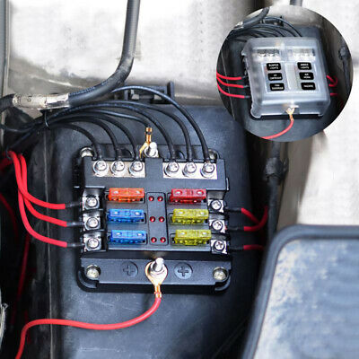 AU19.88 • Buy 6-Way Blade Fuse Box Auto Block Holder LED Indicator Kit 12V 32V For Car Boat AU