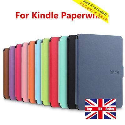 Cover Smart Case Protective Shell PU Leather For Amazon Kindle Paperwhite 1/2/3` • 6.42£