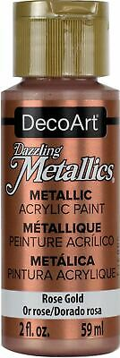 DecoArt Dazzling Metallics Acrylic Paint 2oz-Rose Gold -DM-DA336 • 7.97£