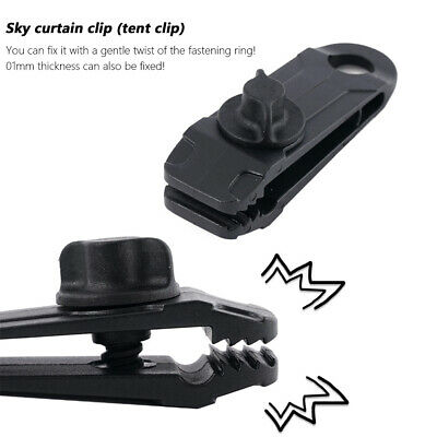 Resuable Outdoor Camping Tent Hook Clips Clamp Buckle Windproof Tarpaulin Clip • 3.86£