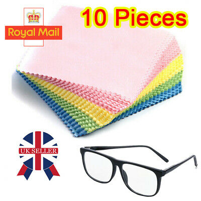 10x Micro Fibre Microfiber Cleaner Camera Lens Sunglasses Glasses Cleaning Cloth • 3.54£