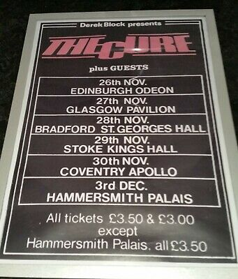 £11.99 • Buy The Cure Uk Tour Framed A3 Poster (new) Repro Freepost Uk