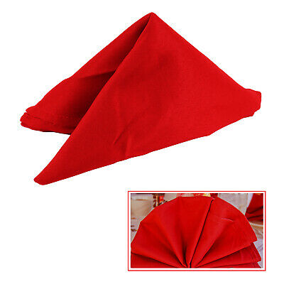 6 Napkins Table Linen Dinner Cloth Polyester Hotel Wedding Christmas RED COLOR • 6.72£