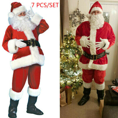 £24.55 • Buy Mens Santa Claus Full Costume Festive Father Christmas Xmas Fancy Outfit Dress