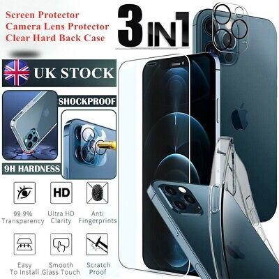 For IPhone 12 Pro Max Mini Tempered Glass Screen Protector Camera Lens Hard Case • 3.59£