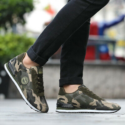 £18.95 • Buy Unisex Mens Camouflage Trainers Sneakers Sports Shoes Gym Running Athletic Size