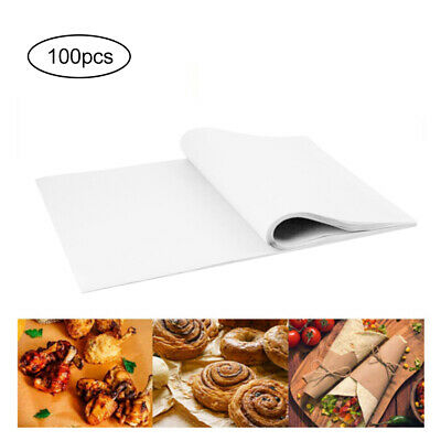 £10.38 • Buy 100X Disposable Non-Stick Food Wrapping Wax Paper Sandwich Candy Wrap Paper UK