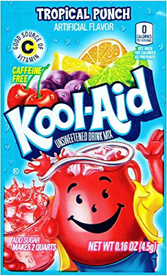 £18.73 • Buy Kool-Aid Tropical Punch Unsweetened Soft Drink Mix, 0.16-Ounce Envelopes Pack Of