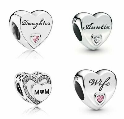 New Genuine Silver Pandora Moments Daughter Wife Auntie Mum Charms S925 Ale • 12.99£