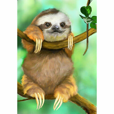AU12.99 • Buy Full Drill Sloth Baby 5D Diamond Painting Embroidery Kits Home Art Mural Decor