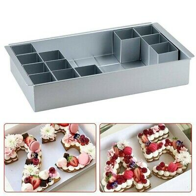 £11.98 • Buy Rectangle Cake Baking Mold Tray Number Letter Tins Mould Aluminum Alloy Pan