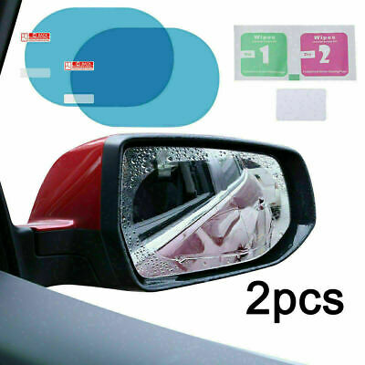 Rainproof Car Wing Mirrors Anti-fog Protective Film Sticker Rain Shield 2 Pcs UK • 2.09£