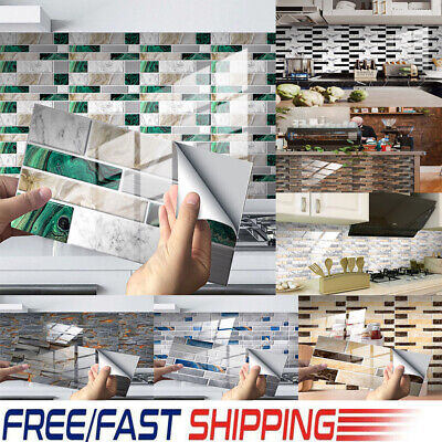 3D DIY Self-adhesive Brick Tiles Wall Stickers Kitchen Bathroom Art Home Decor • 7.21£