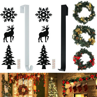 New Christmas Winter Wreath Door Hanger Reef Craft Metal Hook Xmas Decoration • 5.99£