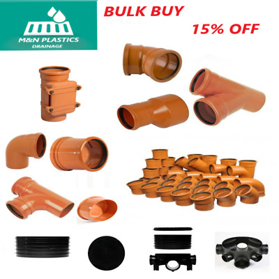 £17.99 • Buy 110mm Underground Drainage, Bends, Junctions, Coupler, Chamber Manhole Fittings