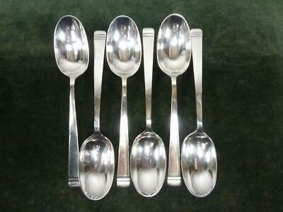 6 Nice Vintage Mappin Webb Dessert Spoons Silver Plated Classic Pattern #1 • 20.99£