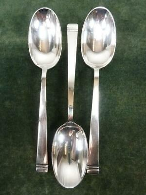 3 Nice Vintage Mappin Webb Serving Spoons Silver Plated Classic Pattern #1 • 16.99£