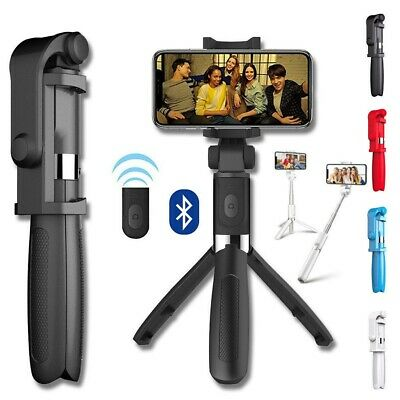Wireless Blutooth Selfie Tripod Phone Holder Stick Monopod  For IPhone Samsung • 6.59£
