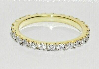 9ct Yellow Gold On Silver 0.50CT Full Eternity Ring ~ All Sizes - Gift Boxed • 19.95£