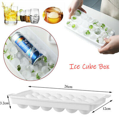 Large Ice Cube Tray Ball Maker Big Silicone Mold Sphere Whiskey DIY Round Mould • 5.99£