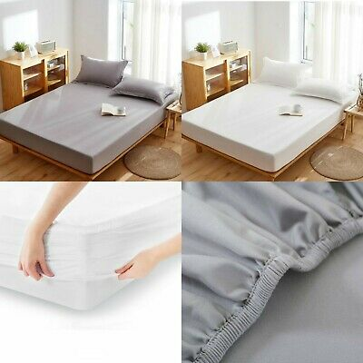 £16.99 • Buy 40cm Extra Deep Fitted Sheet 100% Egyptian Cotton 400TC 600TC Double Super King