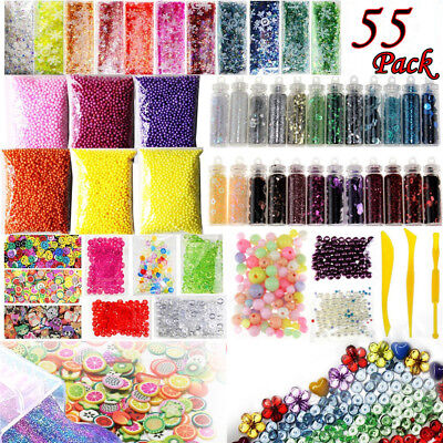 AU24.89 • Buy Slime Supplies Kit 55 Pack Slime Beads Charms Slime Tools For Slime Making VFFF