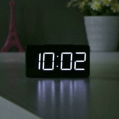 AU19.23 • Buy LED Digital Alarm Clock Thermometer Desk Bed Light USB Powered Mirror