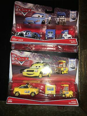 "$ CDN38.15 • Buy 4 Disney Pixar Cars Die Cast ""EASY"" OAKS & CHEIF RPM PITTY PETROL PULASKI"