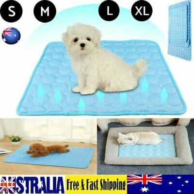 AU22.50 • Buy Pet Cooling Mat Non-Toxic Cool  Pad Cooling Bed For Summer Dog Cat Puppy ZE
