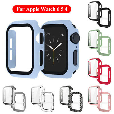 AU9.37 • Buy For Apple Watch Series 6 5 4 Tempered Glass Screen Protector Matte PC Case AU