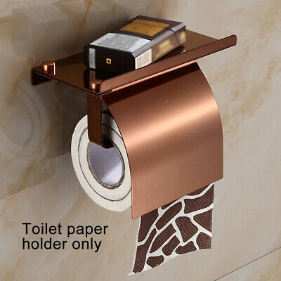 AU28.15 • Buy Wall Mounted Bathroom Toilet Paper Holder Rack Tissue Roll Stand Shelf