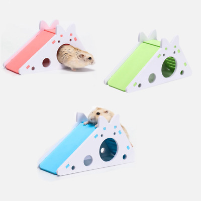 Hamster House Slide Hideout With Ladder Cute Exercise Toy Wooden Guinea Pig Toy • 5.72£