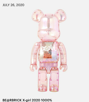 $8000 • Buy BE@RBRICK Bearbrick  X-girl 2020  1000% Medicom Toy Figure Japan *in Hand*