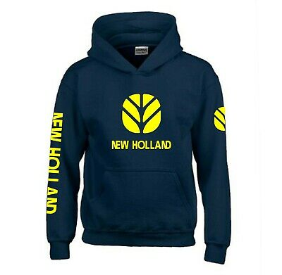 New Holland Hoodie Adults & Kids Tractor Enthusiast Farming  • 24.99£