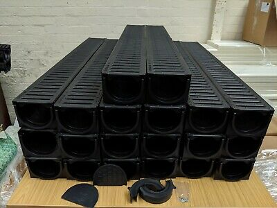 £192.99 • Buy DRAINAGE CHANNEL DRIVEWAY & PATIOS 20mtr Plastic Grating Inc FREE ACCESSORIES