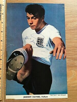 Superb Johnny Haynes Signed Picture Fulham Autograph • 5£