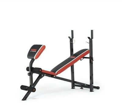 York Warrior 2 In 1 Folding Adjustable Barbell And Ab Weight Bench With Curl • 150£