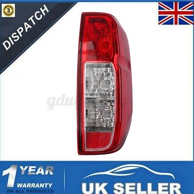 Rear Right Tail Light Brake Lamp Red/Clear For Nissan Navara D40 Pickup 05-15 • 23.99£
