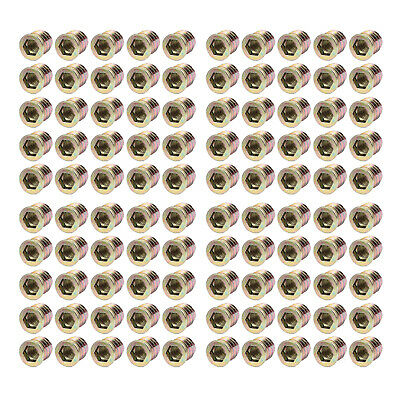 50pcs Exhaust Manifold Nuts Head Stud Nut M8 Hex Copper • 7.89£
