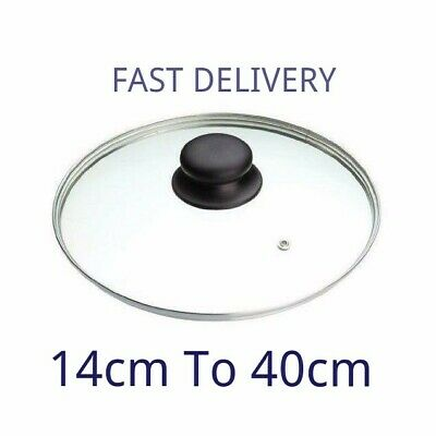 £2.99 • Buy Glass Lid Pan Frying Saucepan Casserole Tempered Wok Lid Clear 14cm 40  All Size