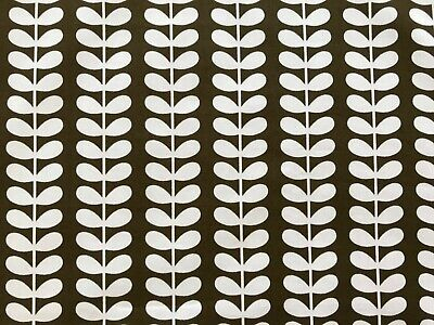 Orla Kiely Tiny Stem Fabric Remnant - 100cm X 50cm Cocoa Brown - Cotton • 16.50£