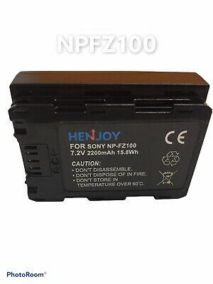 $ CDN34.64 • Buy NP-FZ100 Li-ion Battery 7.2V 2280mAh Replacement For Sony A9 A7RIII A7III