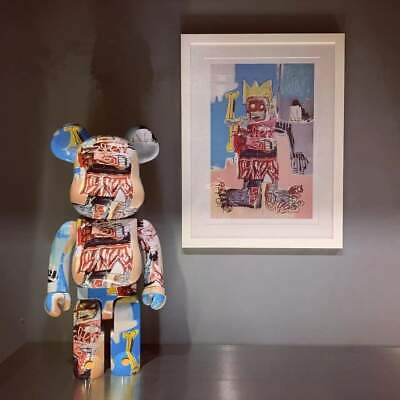 $919 • Buy Medicom 1000% Bearbrick ~ JEAN MICHEL BASQUIAT #06 Be@rbrick