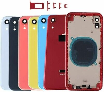 For IPhone XR Metal Frame Back Chassis Housing Rear Glass Cover Replacement Part • 22.50£