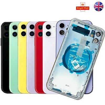 For IPhone 11 Metal Frame Back Chassis Housing Rear Glass Cover Replacement Part • 48.50£