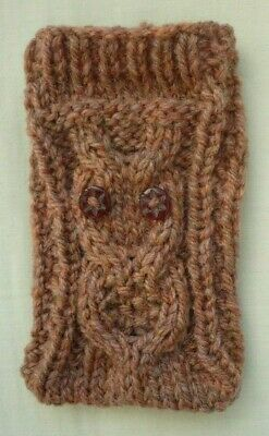 Hand Knitted Mobile Phone Case/Cover/Pouch/Sock   Owl Design 99p  • 0.99£