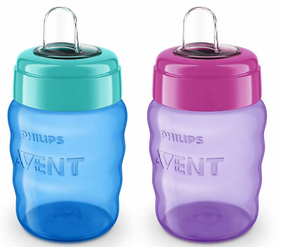 £6.99 • Buy Philips Avent Easy Sip Spout Cup 260ml 9oz 9m+ Purple Or Blue